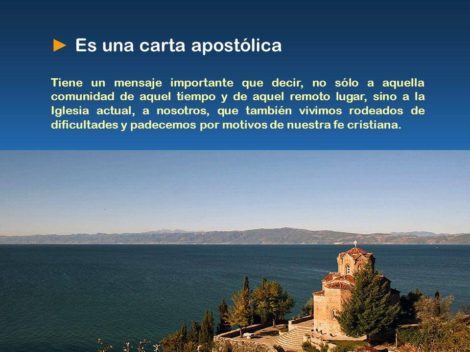 ► Es una carta apostólica
