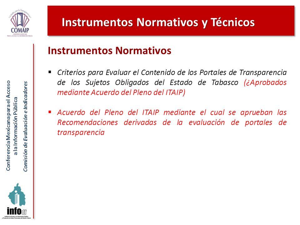 Instrumentos Normativos y Técnicos