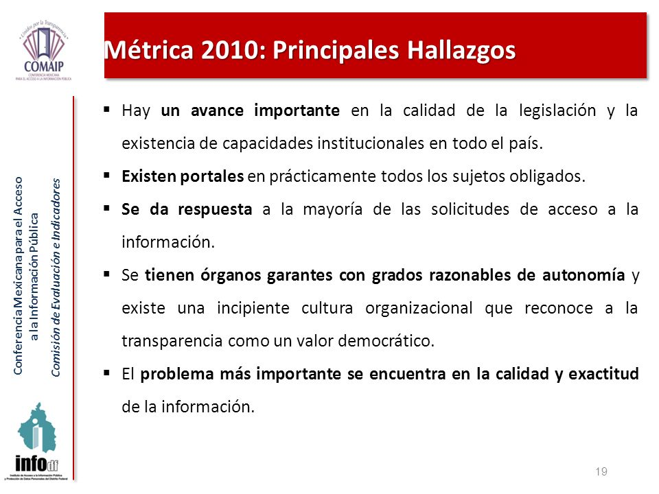 Métrica 2010: Principales Hallazgos