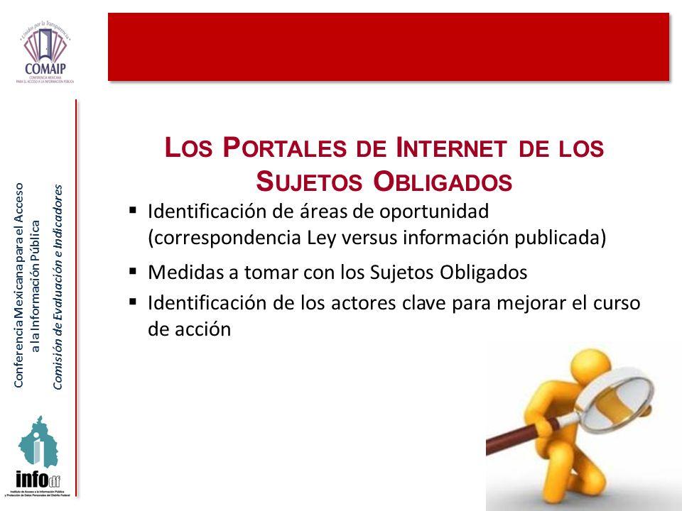 Los Portales de Internet de los Sujetos Obligados