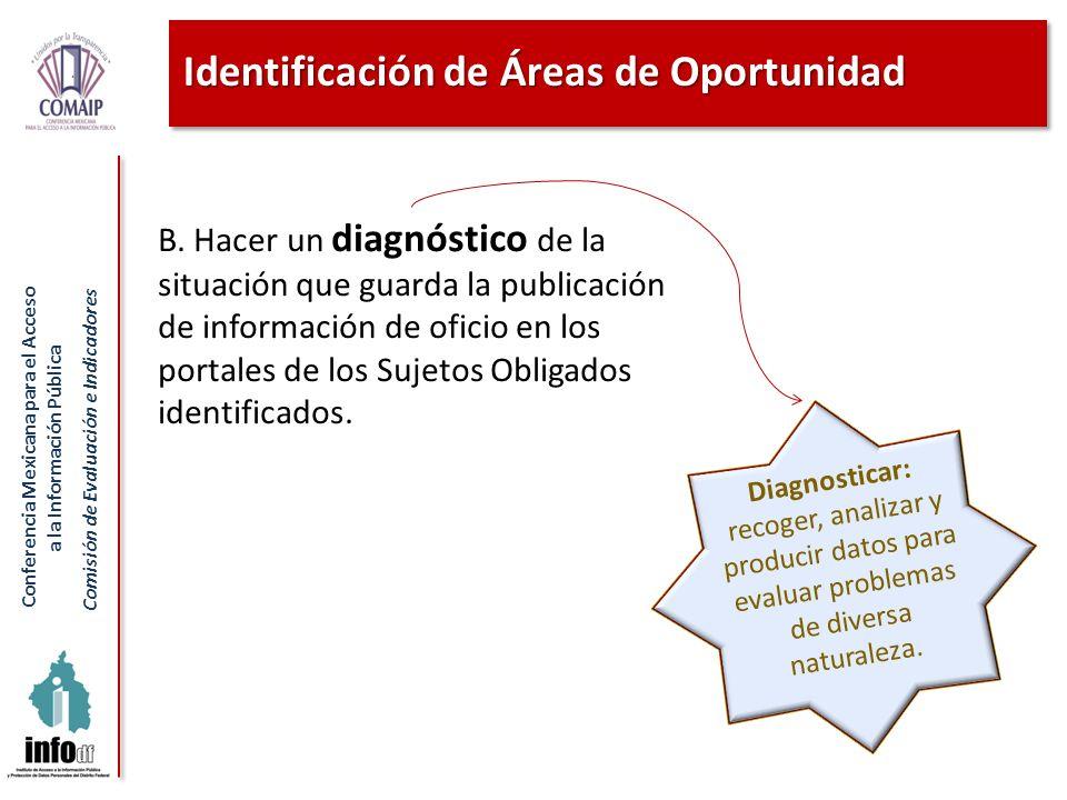 Identificación de Áreas de Oportunidad