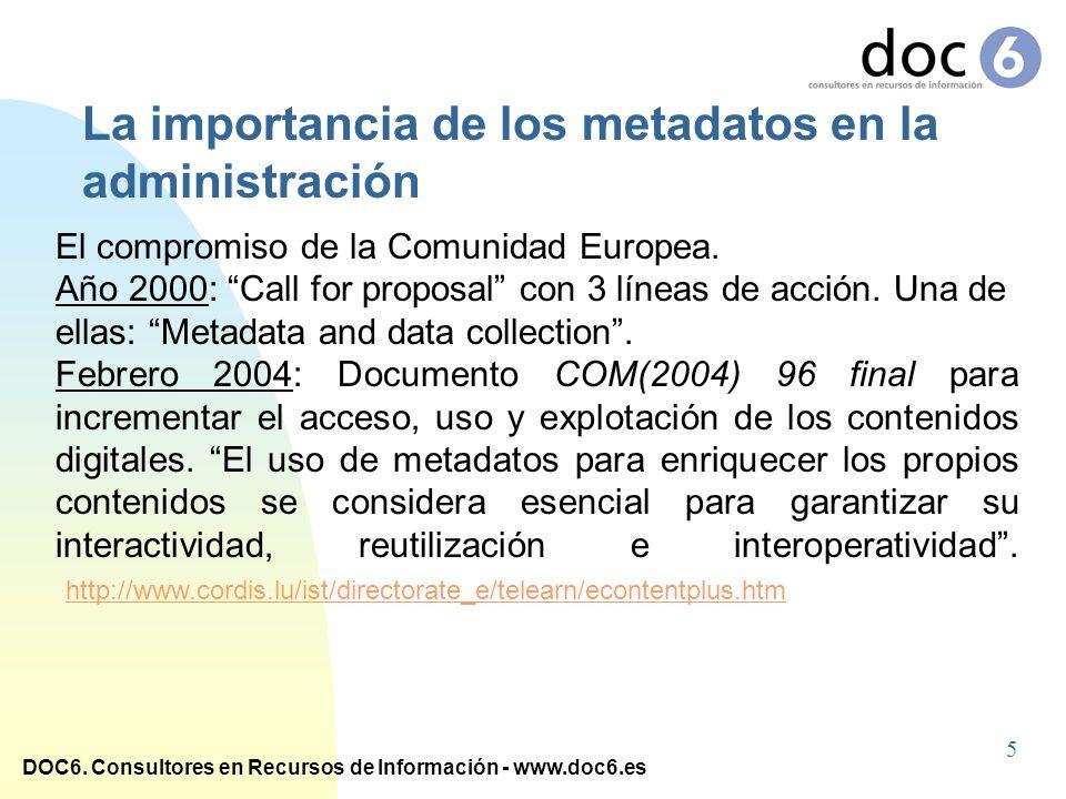 La importancia de los metadatos en la administración