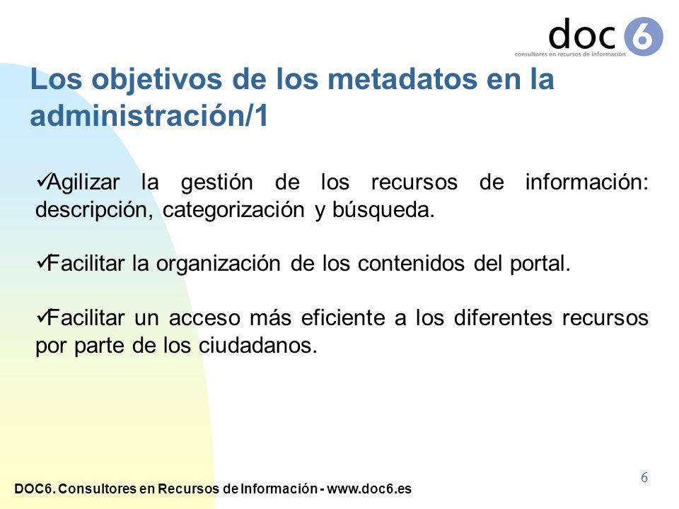 Los objetivos de los metadatos en la administración/1