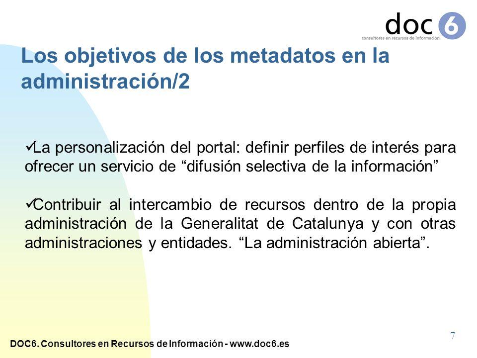 Los objetivos de los metadatos en la administración/2