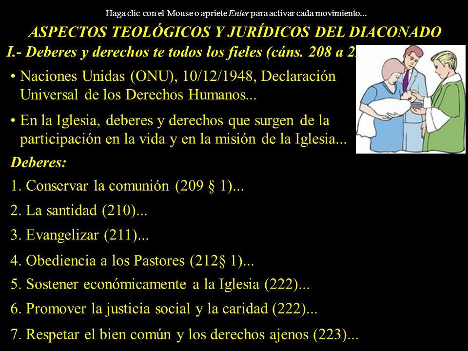 ASPECTOS TEOLÓGICOS Y JURÍDICOS DEL DIACONADO