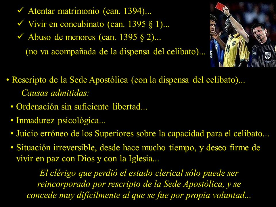 Atentar matrimonio (can. 1394)...