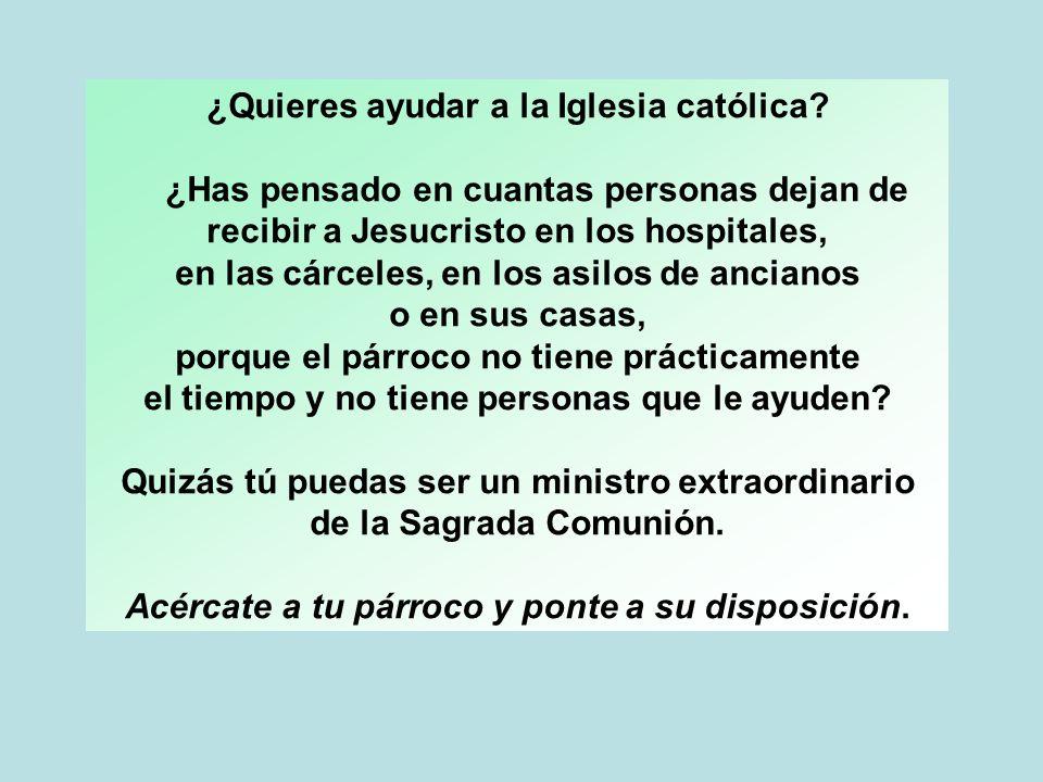 ¿Quieres ayudar a la Iglesia católica