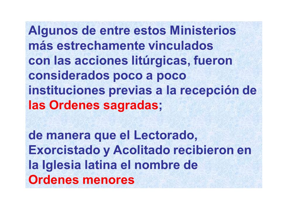 Algunos de entre estos Ministerios
