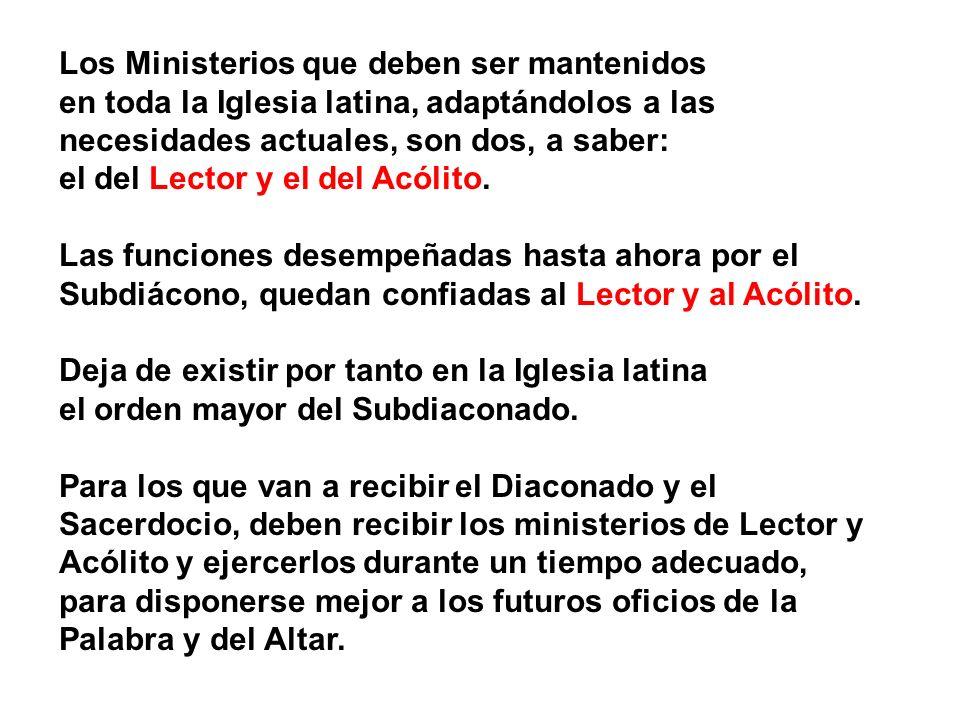 Los Ministerios que deben ser mantenidos