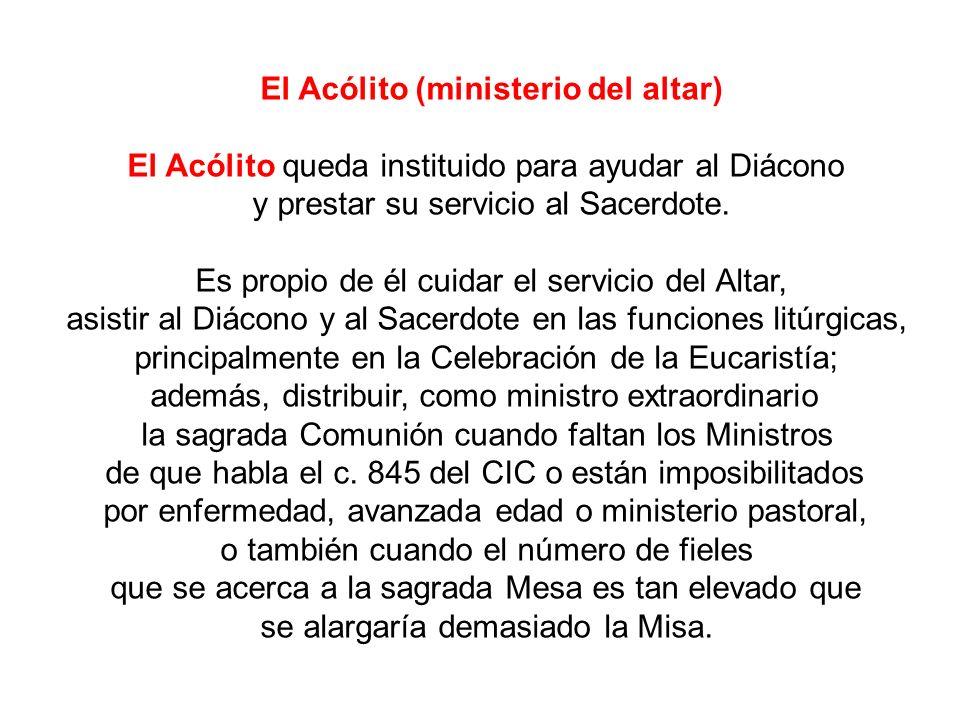 El Acólito (ministerio del altar)
