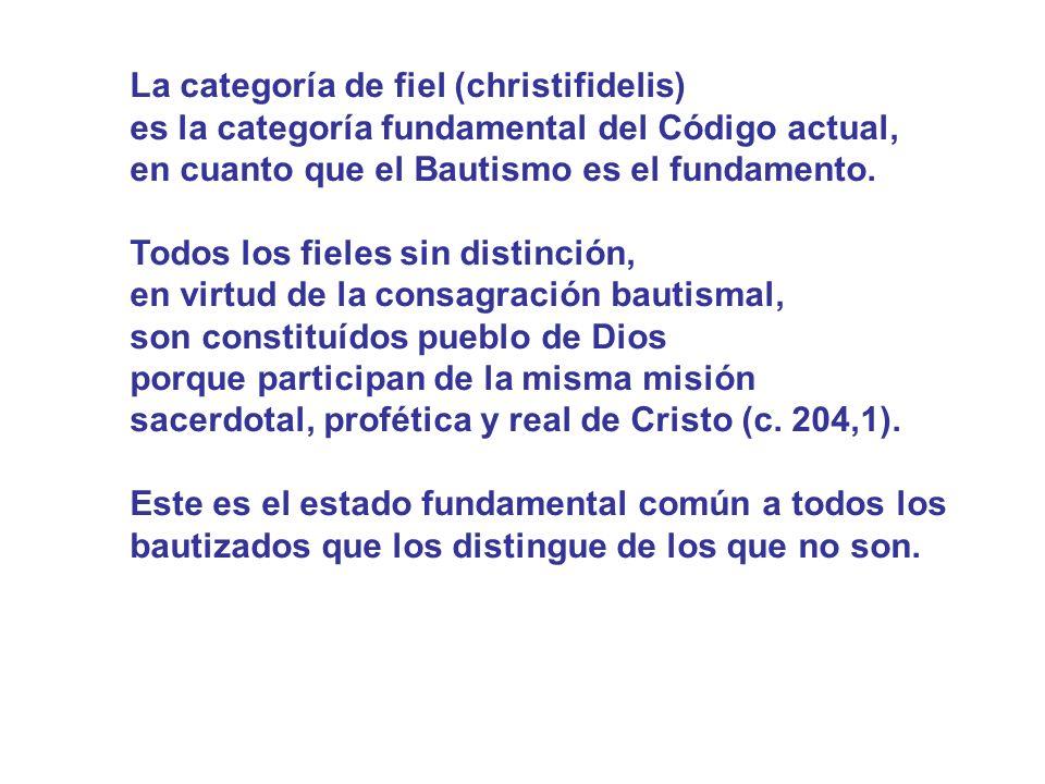 La categoría de fiel (christifidelis)