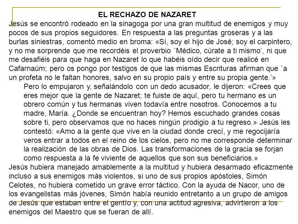 EL RECHAZO DE NAZARET