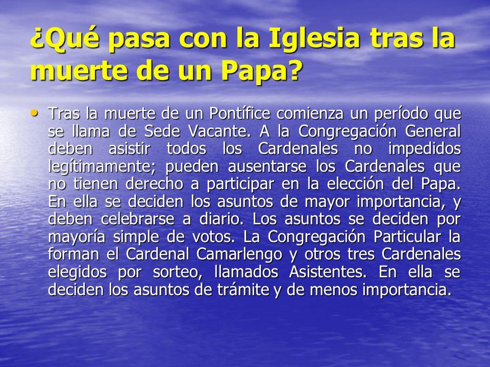 ¿Qué pasa con la Iglesia tras la muerte de un Papa