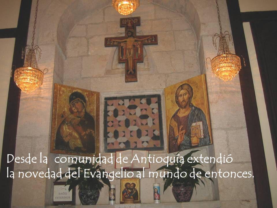 Desde la comunidad de Antioquía extendió