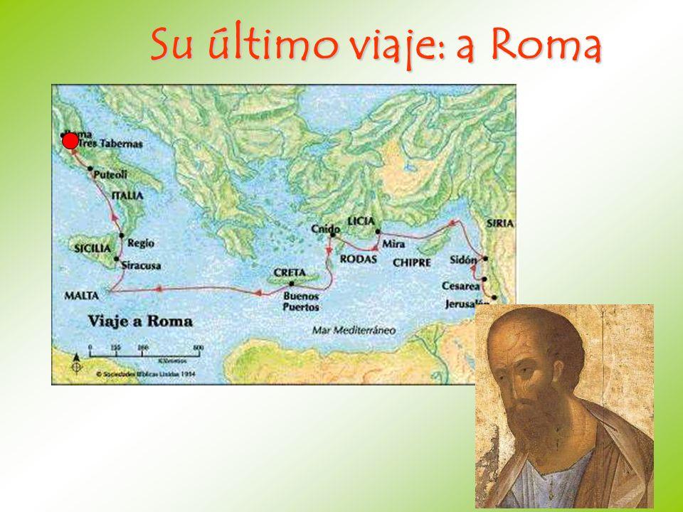 Su último viaje: a Roma