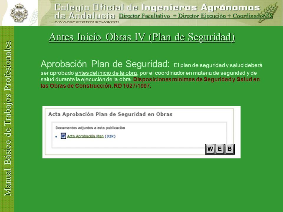 Antes Inicio Obras IV (Plan de Seguridad)