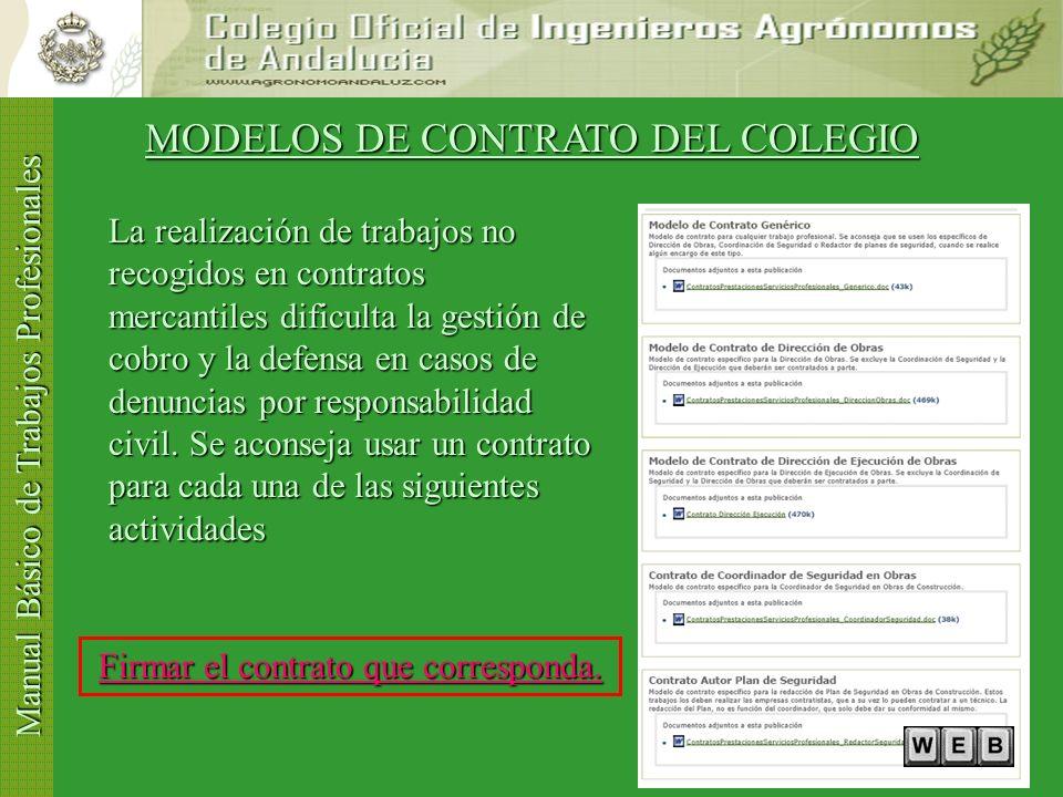 MODELOS DE CONTRATO DEL COLEGIO