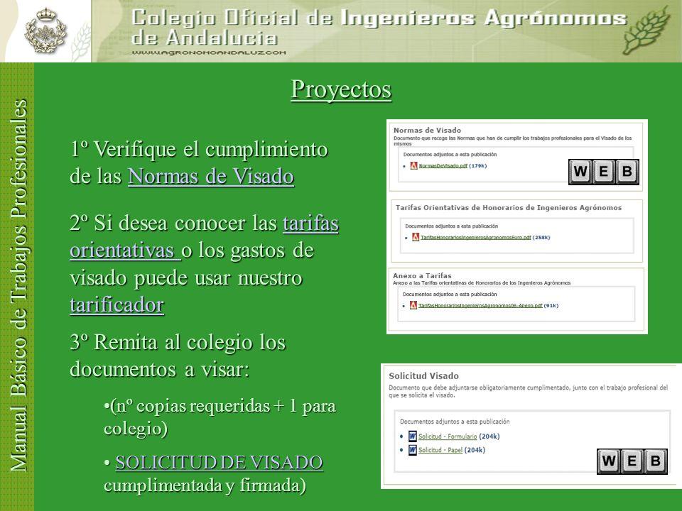 Proyectos 1º Verifique el cumplimiento de las Normas de Visado