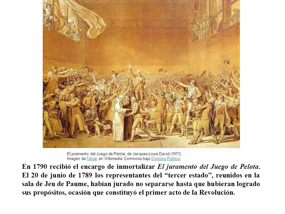 El juramento del Juego de Pelota, de Jacques-Louis David (1971) Imagen de Tablar en Wikimedia Commons bajo Dominio Publico