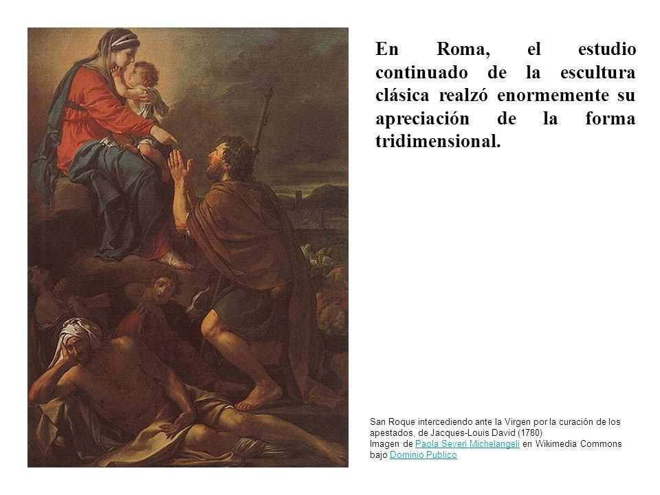 En Roma, el estudio continuado de la escultura clásica realzó enormemente su apreciación de la forma tridimensional.