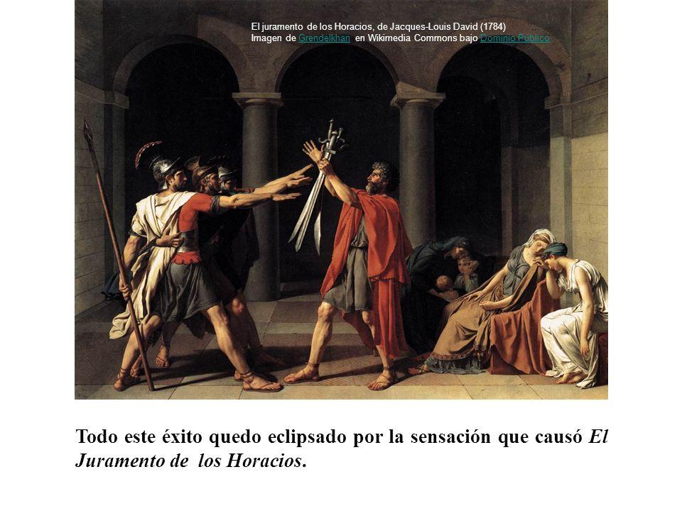 El juramento de los Horacios, de Jacques-Louis David (1784) Imagen de Grendelkhan en Wikimedia Commons bajo Dominio Público