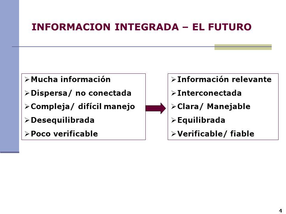INFORMACION INTEGRADA – EL FUTURO
