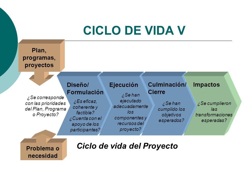 Plan, programas, proyectos