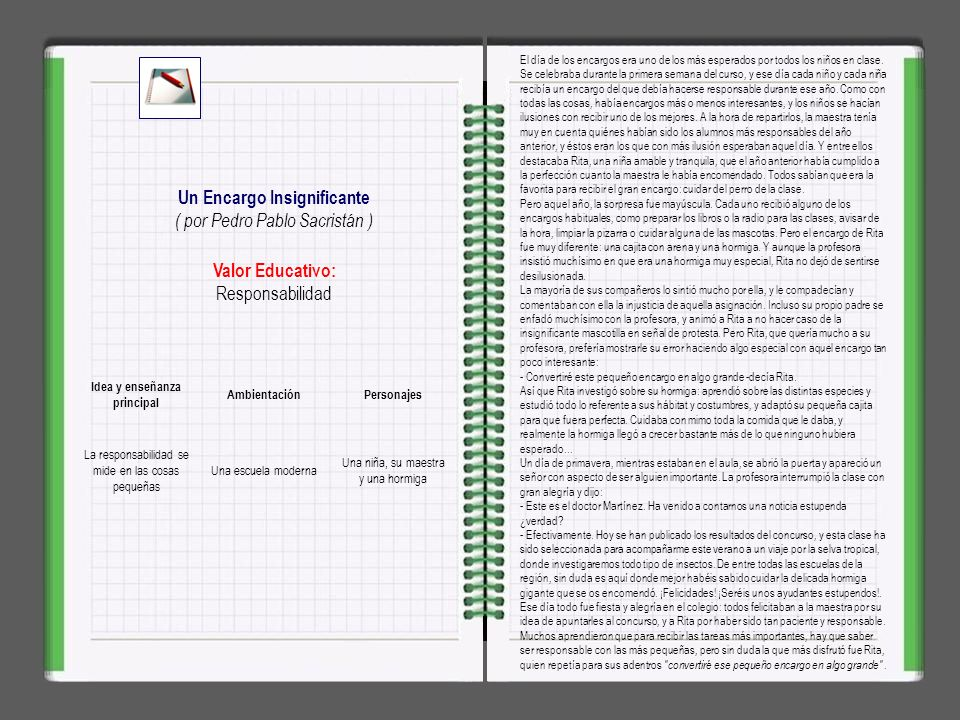 Un Encargo Insignificante Idea y enseñanza principal