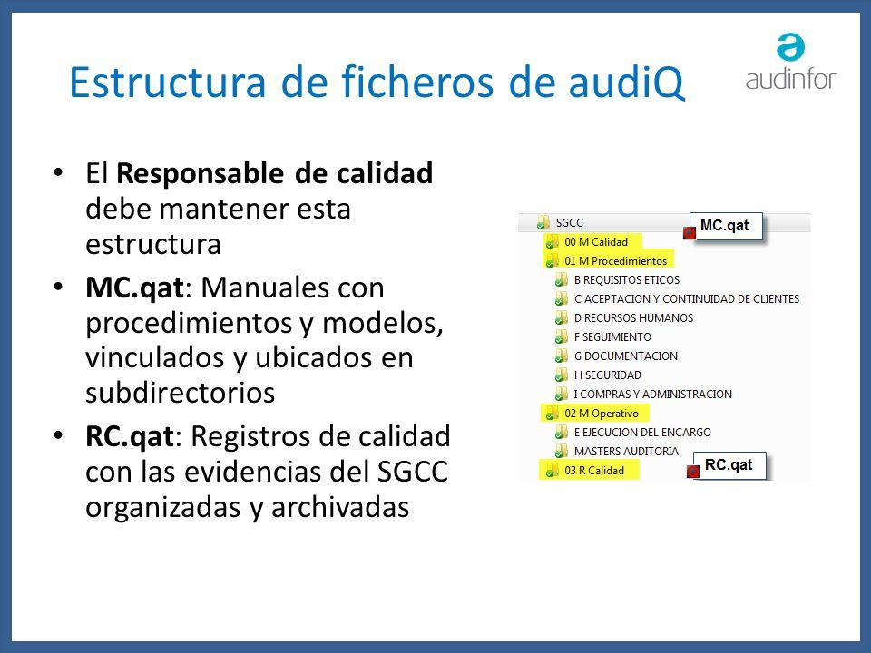 Estructura de ficheros de audiQ