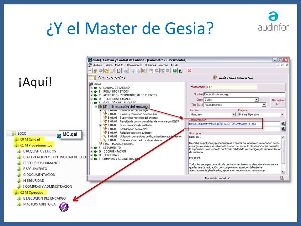¿Y el Master de Gesia ¡Aquí!
