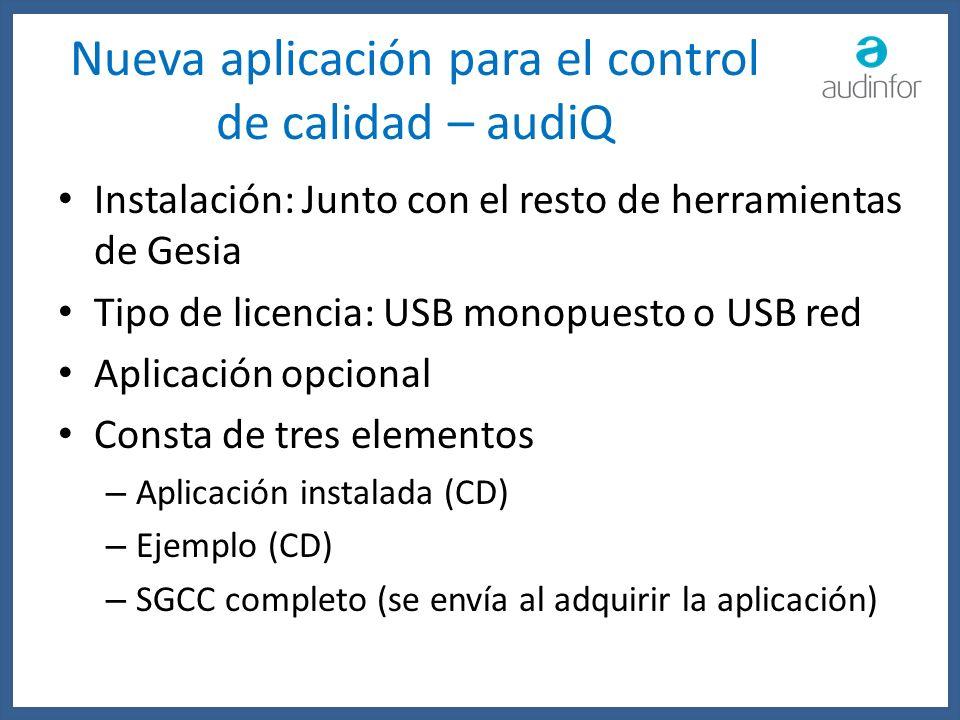 Nueva aplicación para el control de calidad – audiQ