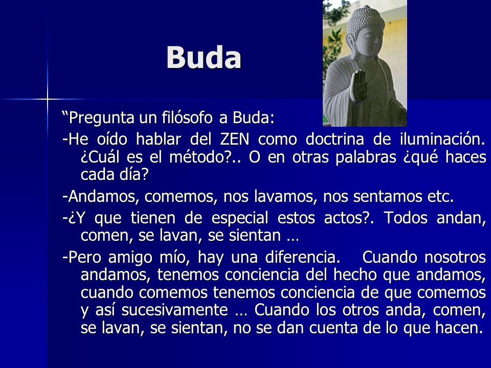 Buda Pregunta un filósofo a Buda: