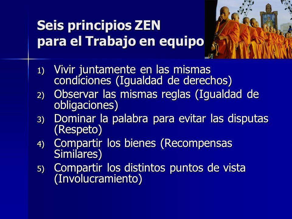 Seis principios ZEN para el Trabajo en equipo
