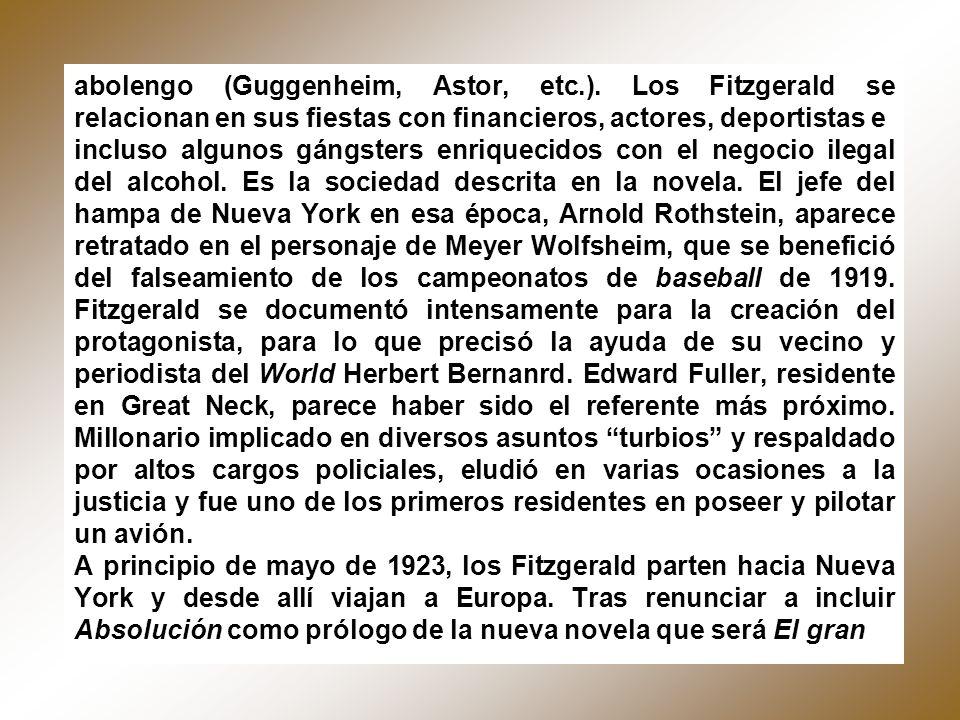 abolengo (Guggenheim, Astor, etc. )