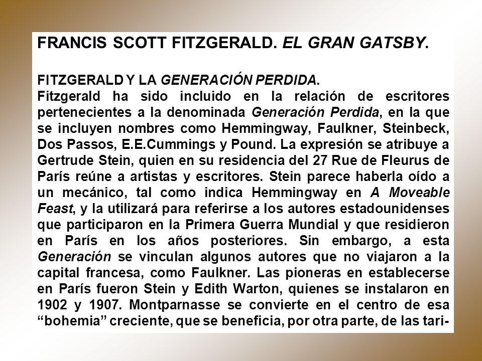 FRANCIS SCOTT FITZGERALD. EL GRAN GATSBY.