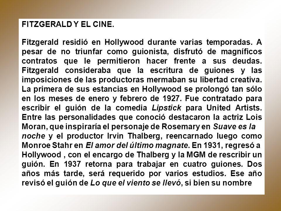 FITZGERALD Y EL CINE.
