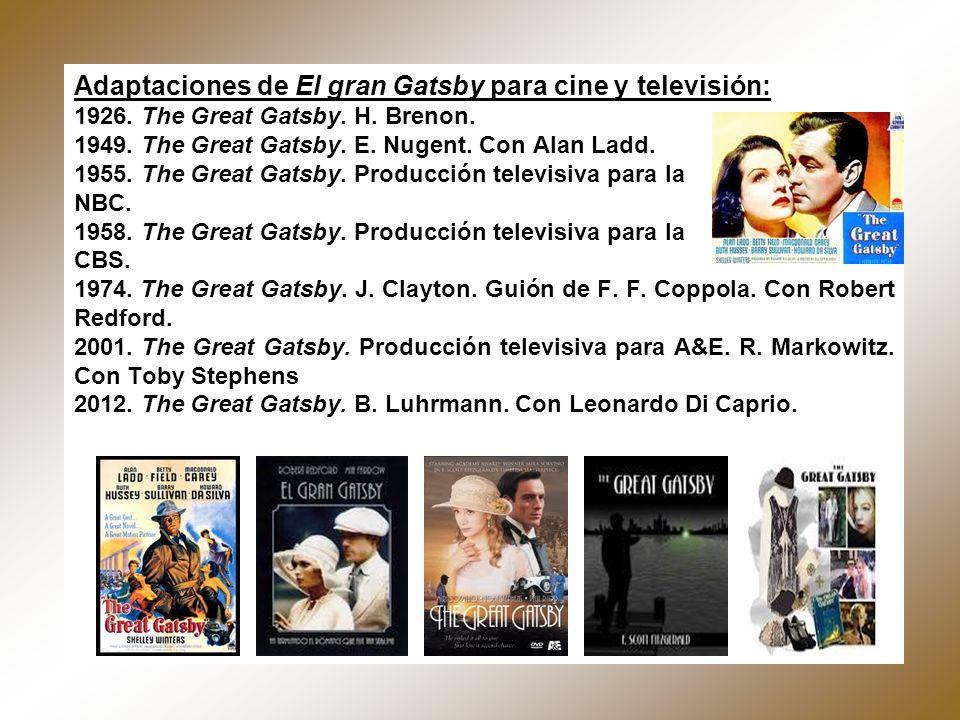 Adaptaciones de El gran Gatsby para cine y televisión: