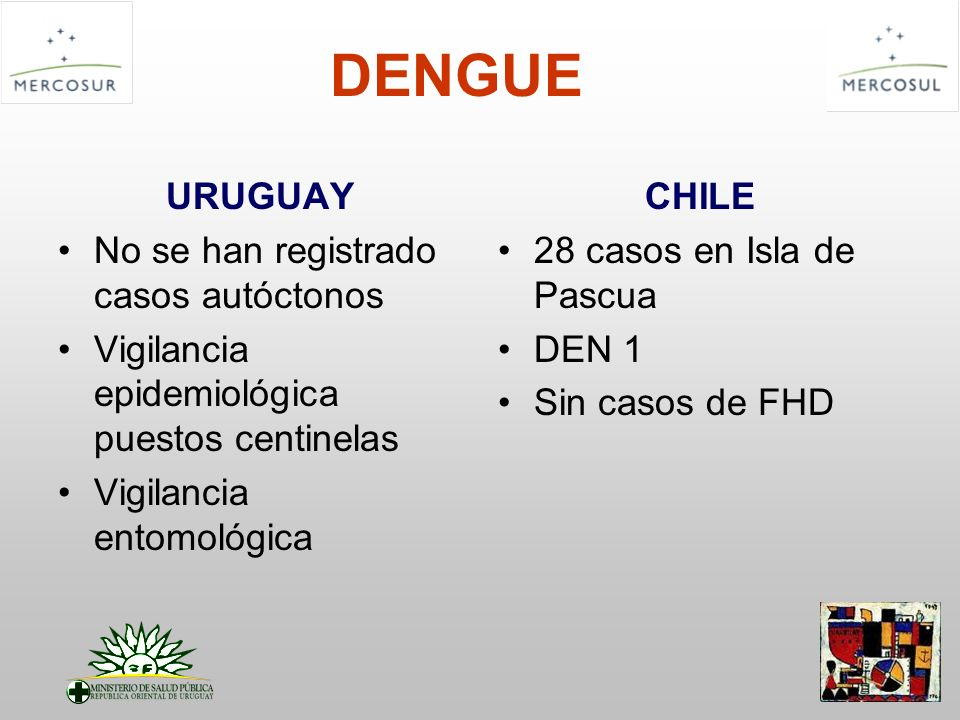 DENGUE URUGUAY No se han registrado casos autóctonos