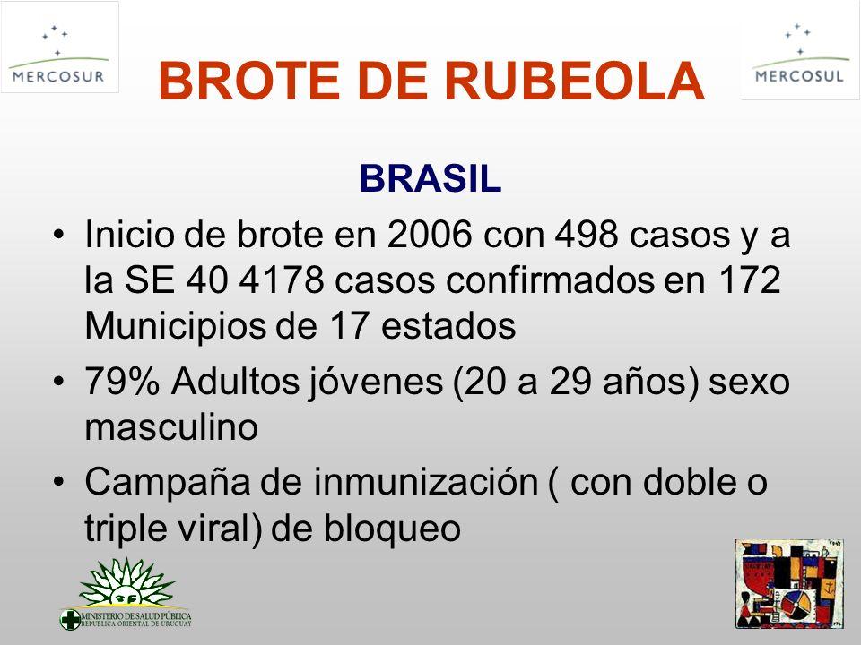 BROTE DE RUBEOLA BRASIL