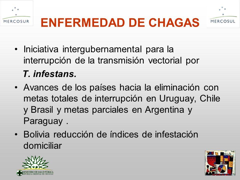 ENFERMEDAD DE CHAGAS Iniciativa intergubernamental para la interrupción de la transmisión vectorial por.