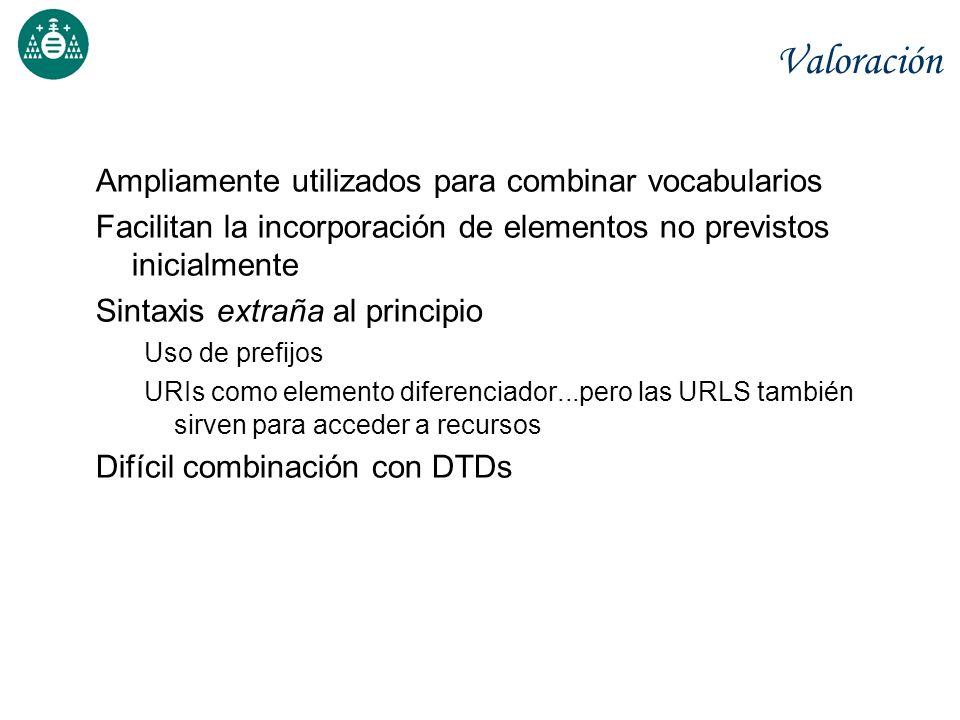 Valoración Ampliamente utilizados para combinar vocabularios