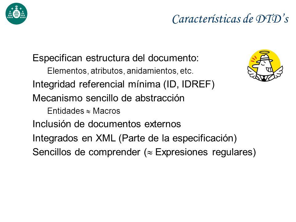 Características de DTD's