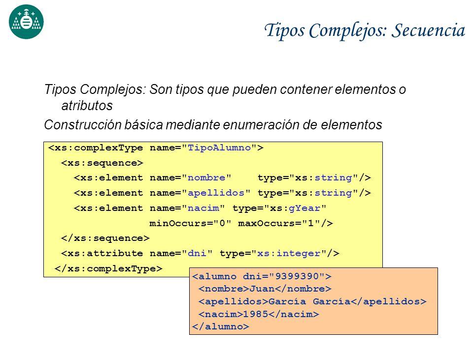 Tipos Complejos: Secuencia
