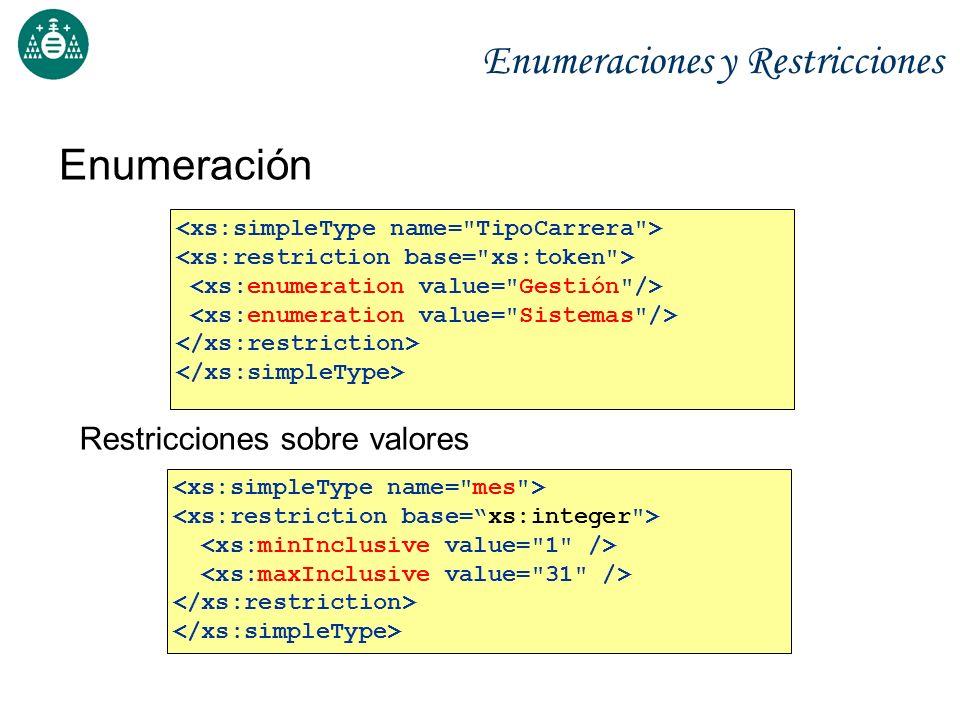 Enumeraciones y Restricciones