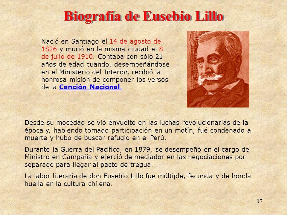 Biografía de Eusebio Lillo