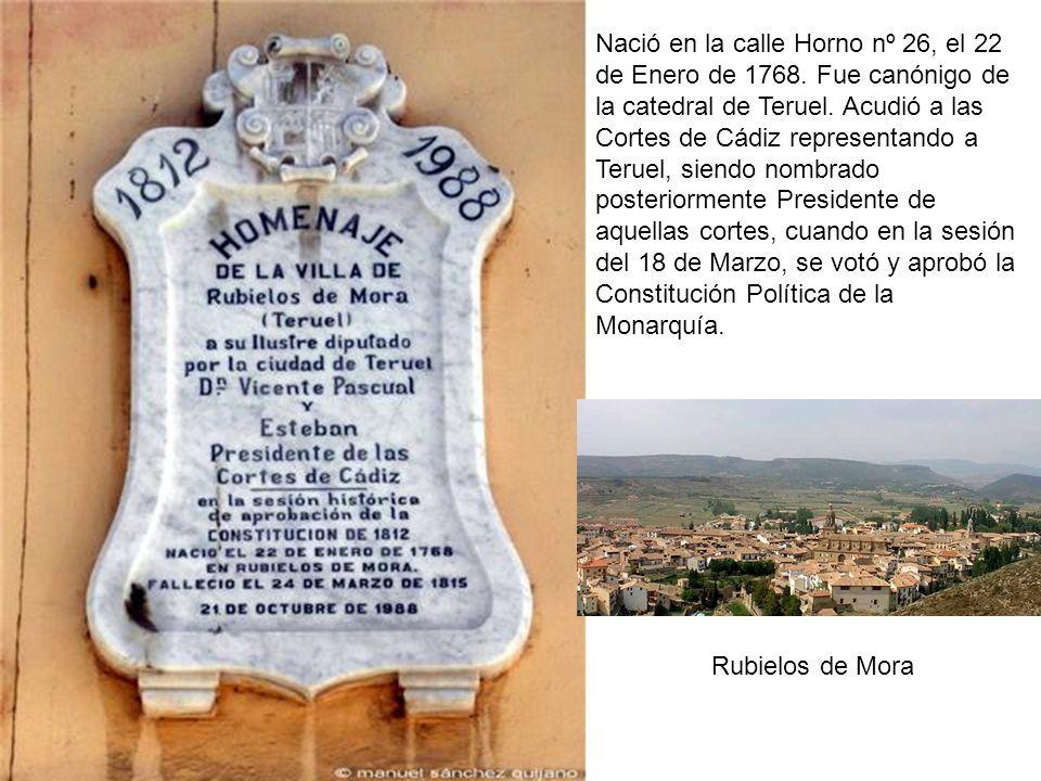 Nació en la calle Horno nº 26, el 22 de Enero de 1768