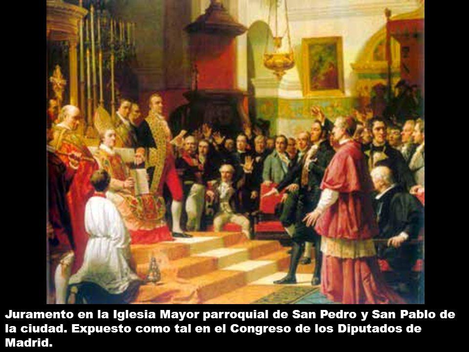 Juramento en la Iglesia Mayor parroquial de San Pedro y San Pablo de la ciudad.