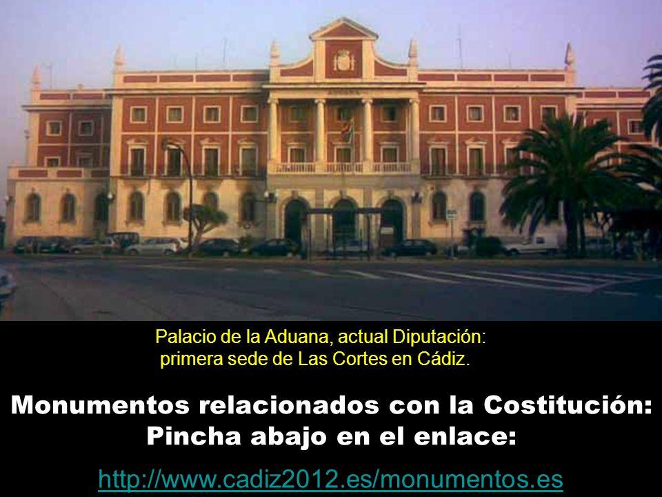 Monumentos relacionados con la Costitución: Pincha abajo en el enlace: