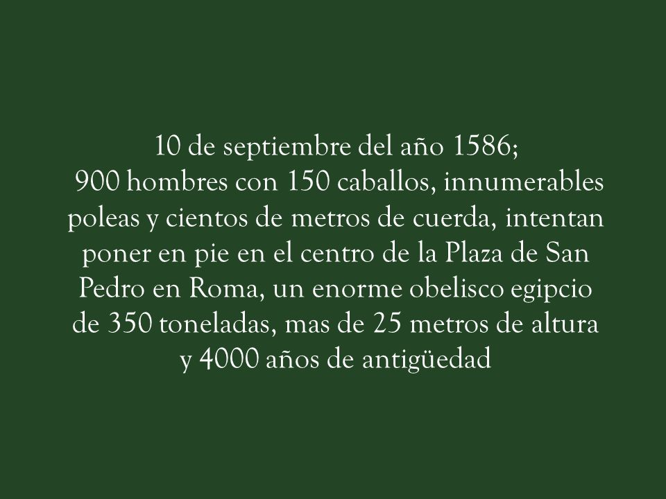 10 de septiembre del año 1586;