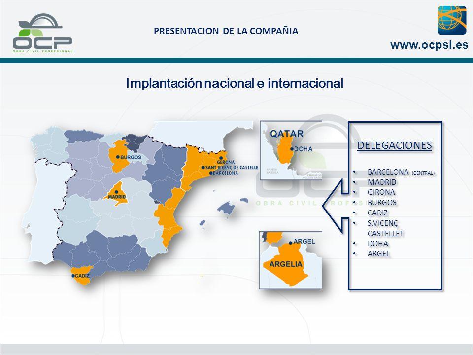 Implantación nacional e internacional